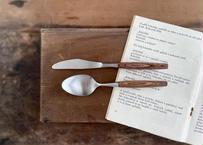 vintage|米国輸出用日本製ナイフ&ラージスプーン2本セット