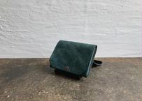lampan/お札まっすぐ財布〈コインたっぷり〉緑