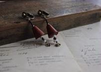 pecoranera original costume jewelry /wood earring