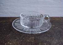 古物/冷茶専用ガラスのカップ&ソーサー
