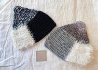 sinsin|カラフルニット帽〈ネイビー/グレー〉