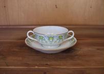 vintage/yamato chinaスープカップ&ソーサー