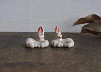 民芸箸枕鶴子 マッチョウサギ各1体
