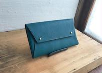 ■予約販売■lampan/本革長財布〈 tatami 〉緑〈送料無料〉