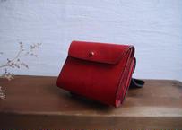 【送料無料】lampan/本革二つ折り財布〈magic〉赤