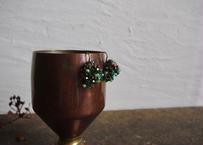 pecoranera original costume jewelry /chandelier earring 緑
