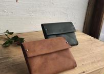 lampan|本革シンプル財布・濃茶 / 深緑
