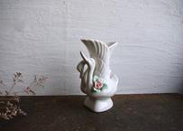 古物/ツガイの美しい白鳥の花器(ダメージあり)
