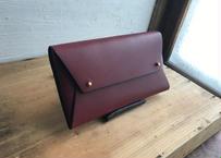 ■予約販売■lampan/本革長財布〈tatami 〉ボルドー〈送料無料〉