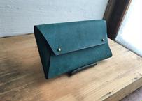 ■受注生産■lampan/本革長財布〈 tatami 〉(プエブロ緑青)〈送料無料〉