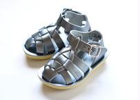 """【 Saltwater Sandals 20SS】 海でも履けるソルトウォーターサンダル  """"Shark Premium""""  / シルバー / 13 - 16cm"""
