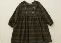 "【 eLfinFolk 20AW 】castle printed dress(elf-202F04)""ワンピース"" / dark green  / size 110-130"