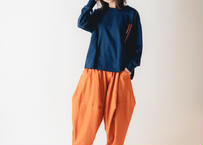 【 nunuforme 2020AW 】オックスポインテッドパンツ [ns-621-005A] / Orange / 155-大人