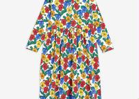 "【 mini rodini 20AW 】Violas ls collar dress(20750127) ""ワンピース""  / Multi"