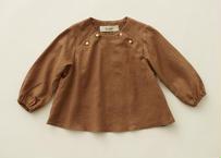 """【 eLfinFolk 20AW 】C/L washer baby blouse(elf-202F39)""""ブラウス"""" /  brown"""