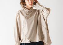 【 nunuforme 20AW 】サークルシャツ [nf14-545-012A] / Beige / 155 - 大人