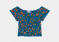 【 Bobo Choses 2020SS 】12001061All Over Oranges Smoked Top