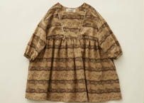 "【 eLfinFolk 20AW 】castle printed dress(elf-202F04)""ワンピース"" / beige  / size 90-100"