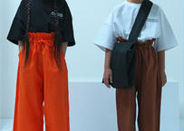 "【 UNIONINI 2020SS 】PT-065 big pants "" ビッグパンツ "" / orange / 4-10Y"