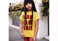 【 mini rodini 2020SS PRE 】Blah sp ss tee(20120124) / Yellow