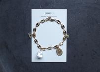 ブレスレット【coin & pearl】