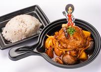 デミグラスソースで煮込んだ仙台牛ハンバーグ姫