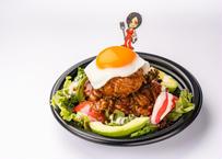 デリシャスな仙台牛ハンバーグのロコモコ丼