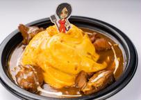 特製カレーソースで煮込んだ森林鶏のオムレツ姫