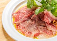 仙台牛の炙りカルパッチョとクレソンのサラダ仕立て