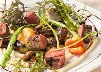 仙台牛ランプと季節野菜のグリル