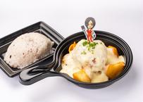 ホワイトソースで煮込んだ仙台牛ハンバーグ姫
