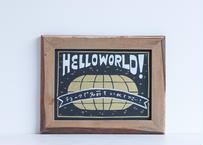 WHW!の看板   HELLO WORLD!   黒板