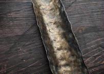 【好信楽 祿 別注】 Skyiron製 真鍮槌目薫流染茶則 313un
