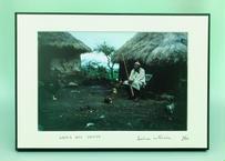写真パネル<マサイ族の男性>直筆サイン付き 数量限定