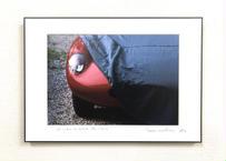 写真パネル<ミッレミリアの赤い車>直筆サイン付き 限定50枚