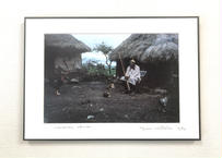 写真パネル<マサイ族の男性>直筆サイン付き 限定50枚
