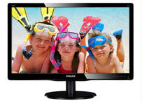PHILIPS 19.5型ワイド液晶ディスプレイ ブラック 5年間フル保証(フルHD/DVI-D/D-Sub)200V4QSBR/11