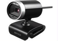 【テレワーク対応】マイク内蔵/100万画素Webカメラ/ HD720p対応/ブラック バッファロー BSW100MBK