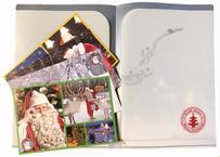 サンタさん大好き「サンタカードwinter4枚+サンタクリアファイル」セット