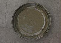 中嶋窯 灰釉9寸玉縁皿
