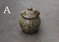 中嶋窯 灰釉小壺