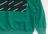 Vintage raglan sweat shirts Kelly green