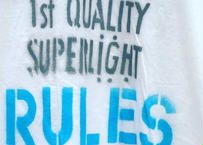 """Stenciled Tee shirts """" RULES USA """" Limited"""