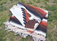 Native american wool×cotton blanket