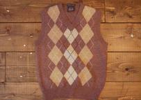 70's argyle knit vest