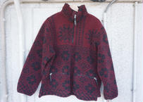 Wool rich pile fleece jacket