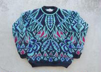90s Patterned wool sweater