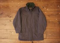 90's Lands'end nylon coat navy-blue