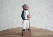 Vintage handcraft fisherman figurines