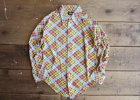 70's Tartan check shirt
